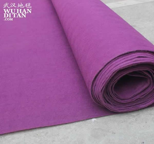武汉地毯网-一次性无纺会展庆典婚庆紫色地毯平纹